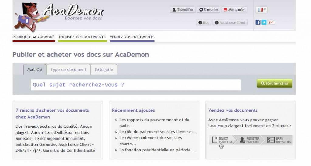 Le site de Academon